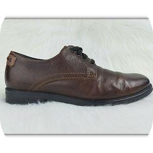 JOHNSTON MURPHY Leather Plain Toe Derby Shoes